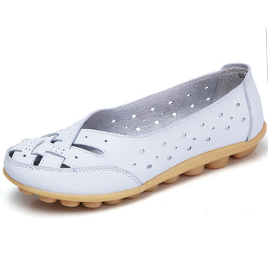 White Summer Breathable Lattice Nodule Shoes