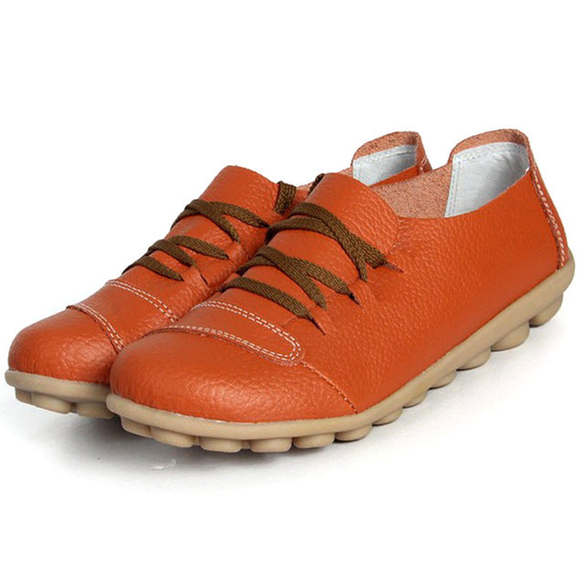 Orange Lace Up Nodule Shoes