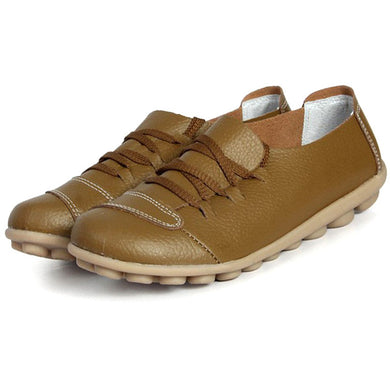 Brown Lace Up Nodule Shoes