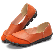 Orange Round Suede Toe with Black Nodule Sole