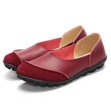 Red Round Suede Toe with Black Nodule Sole