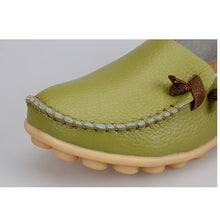 Green Loafer Moccasins with Side Lace