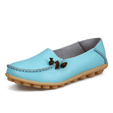 Moon Light Blue Loafer Moccasins with Side Lace