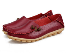 Wine Red Loafer Moccasins with Side Lace