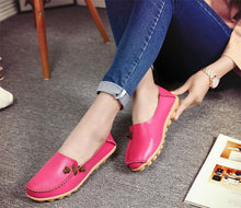 Rose Red Loafer Moccasins with Side Lace
