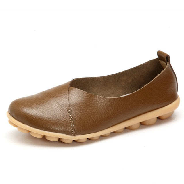 Khaki Round Toe Smooth Natural Rubber Nodules