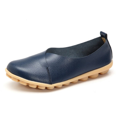 Navy Blue Round Toe Smooth Natural Rubber Nodules