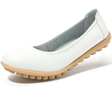 white leather winter nodule shoes for women who want comfortable feet
