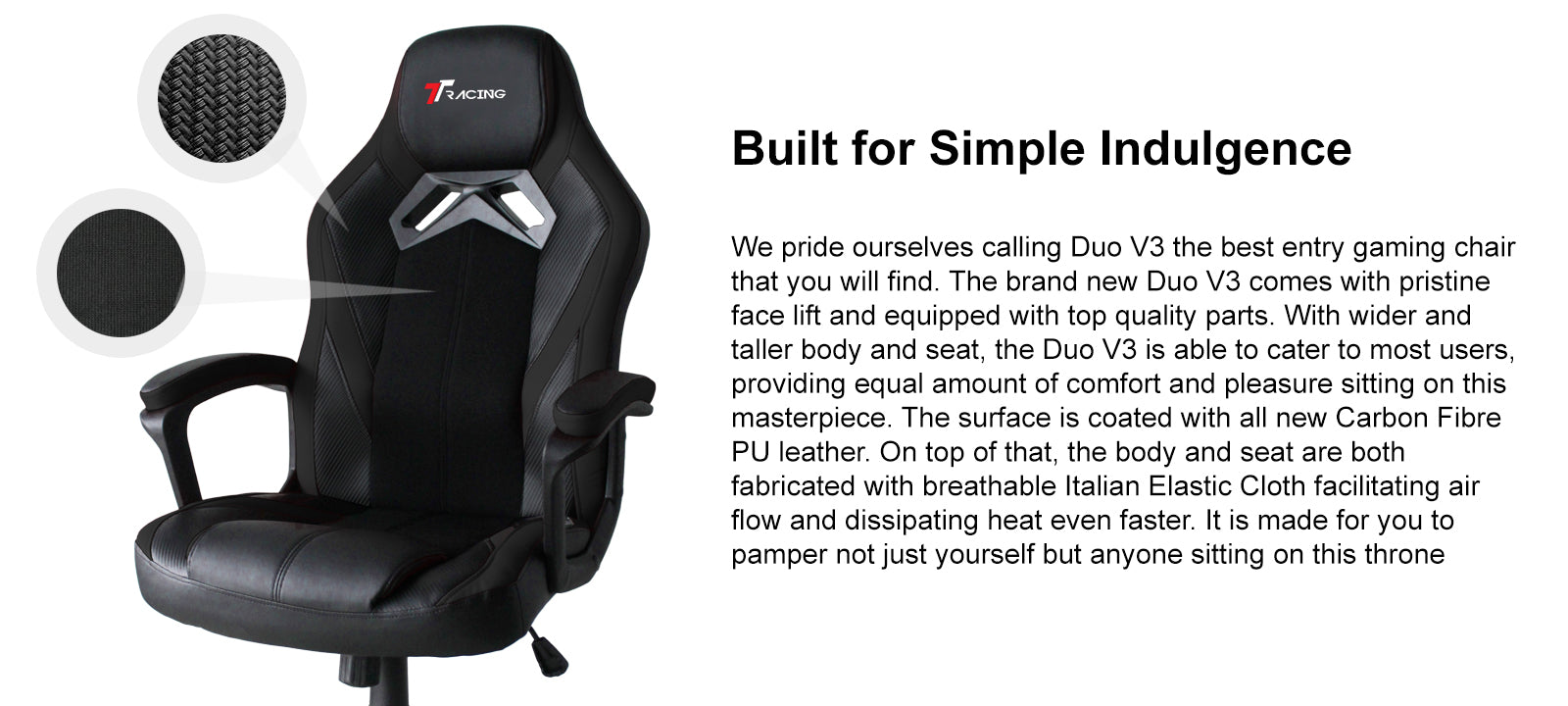 TTRACING DUO V3 PU LEATHER GAMING CHAIR simple indulgence