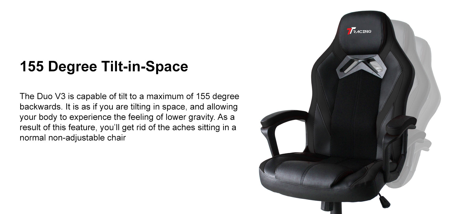 TTRACING DUO V3 PU LEATHER GAMING CHAIR tilt-in-space