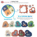 3 in 1 Baby Play mat - Animal Train