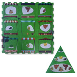 2 in 1 Baby Play mat - Fruit Market