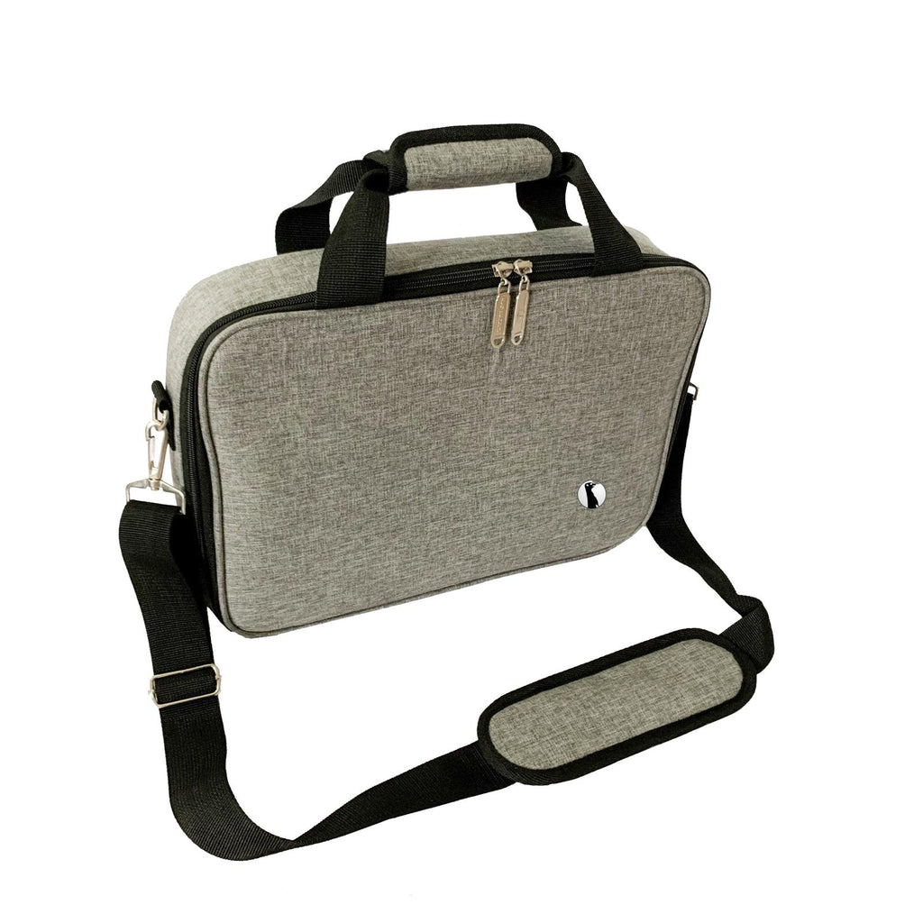 "Red Suricata ""Business"" 10 Can Slim Cooler Bag (Grey)"