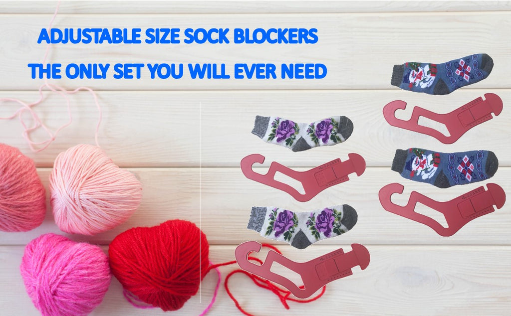 Red Suricata Adjustable Size Sock Blockers - 2 Pairs (4 units) of Socking Stretchers