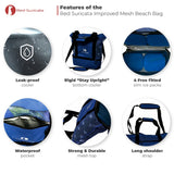 Red Suricata Blue Combo Mesh Beach Bag Tote & Cooler including 4 ice packs