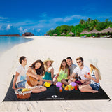 Black Sand Free Beach Mat Blanket – Compatible with Black Beach Sun Shade Canopy