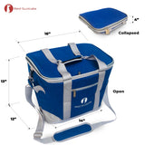 Red Suricata Heathered Blue/Grey Collapsible 45can 30L Cooler Bag