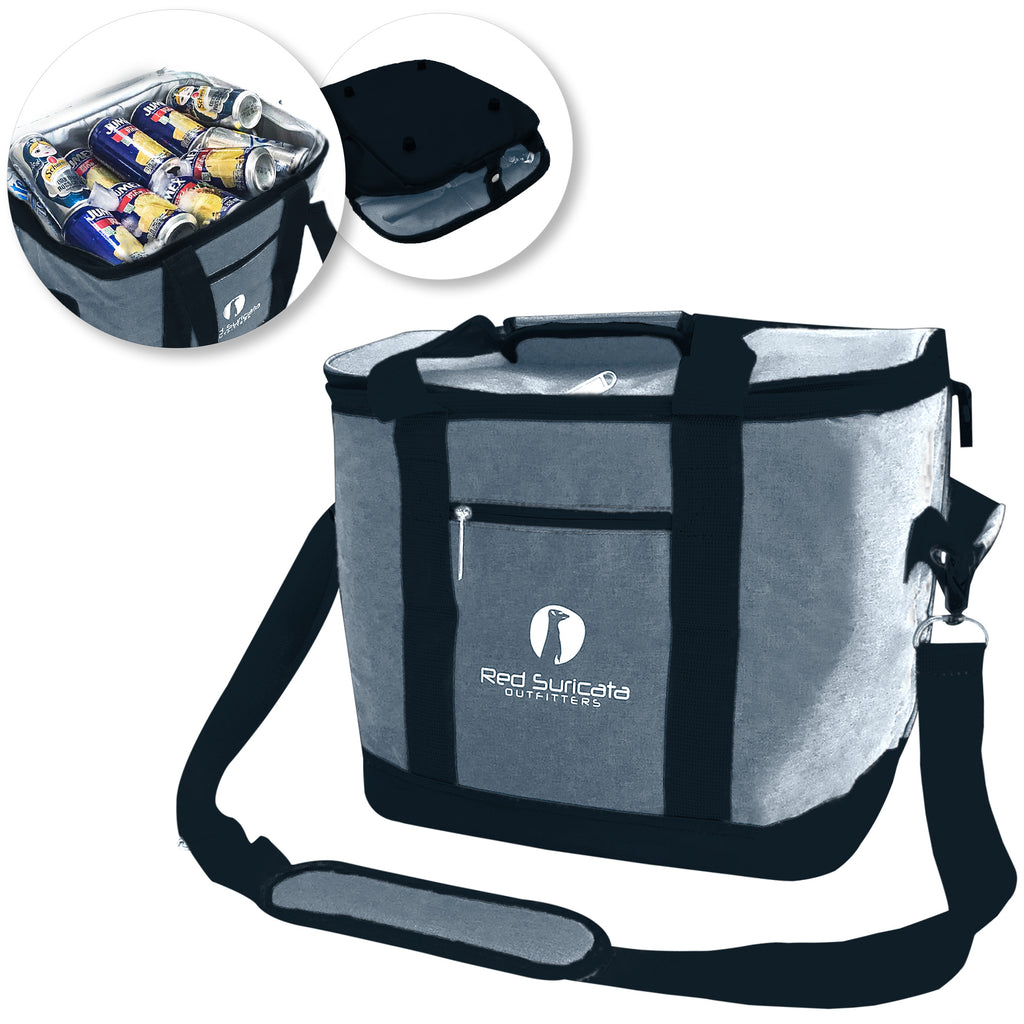 Grey/Black Collapsible 50 can Cooler Bag