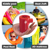 Red Suricata Powerful Little Rechargeable Electric Air Pump for Inflatables