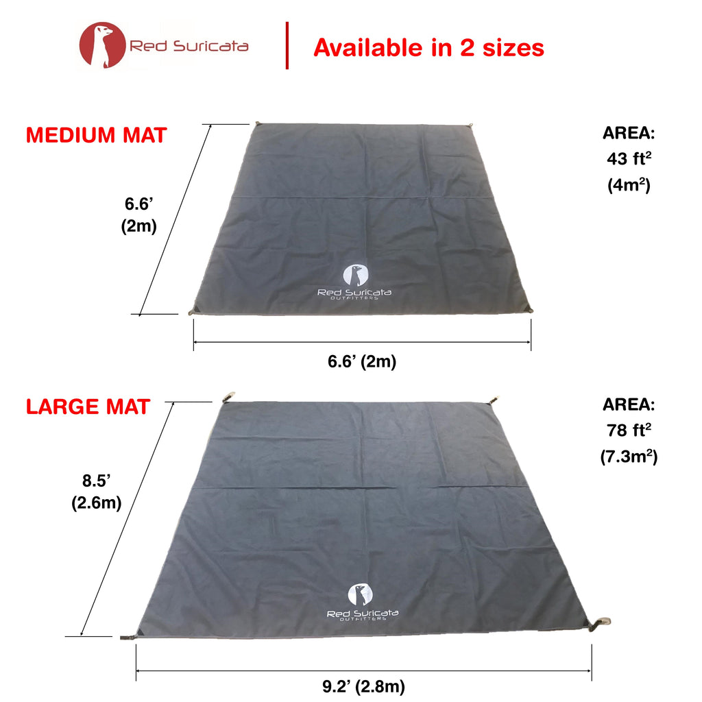 Red Suricata Grey Sand Free Beach Mat Blanket – Compatible with Grey Beach Sun Shade Canopy