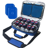 "Red Suricata ""Business"" 10 Can Slim Cooler Bag (Blue)"