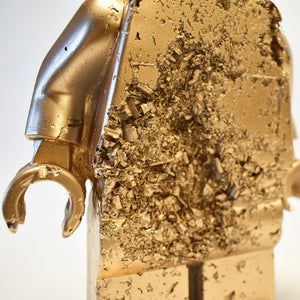 Eroded Gold Lego Man #7