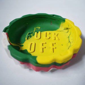Fuck Off Colourful Round Ashtray