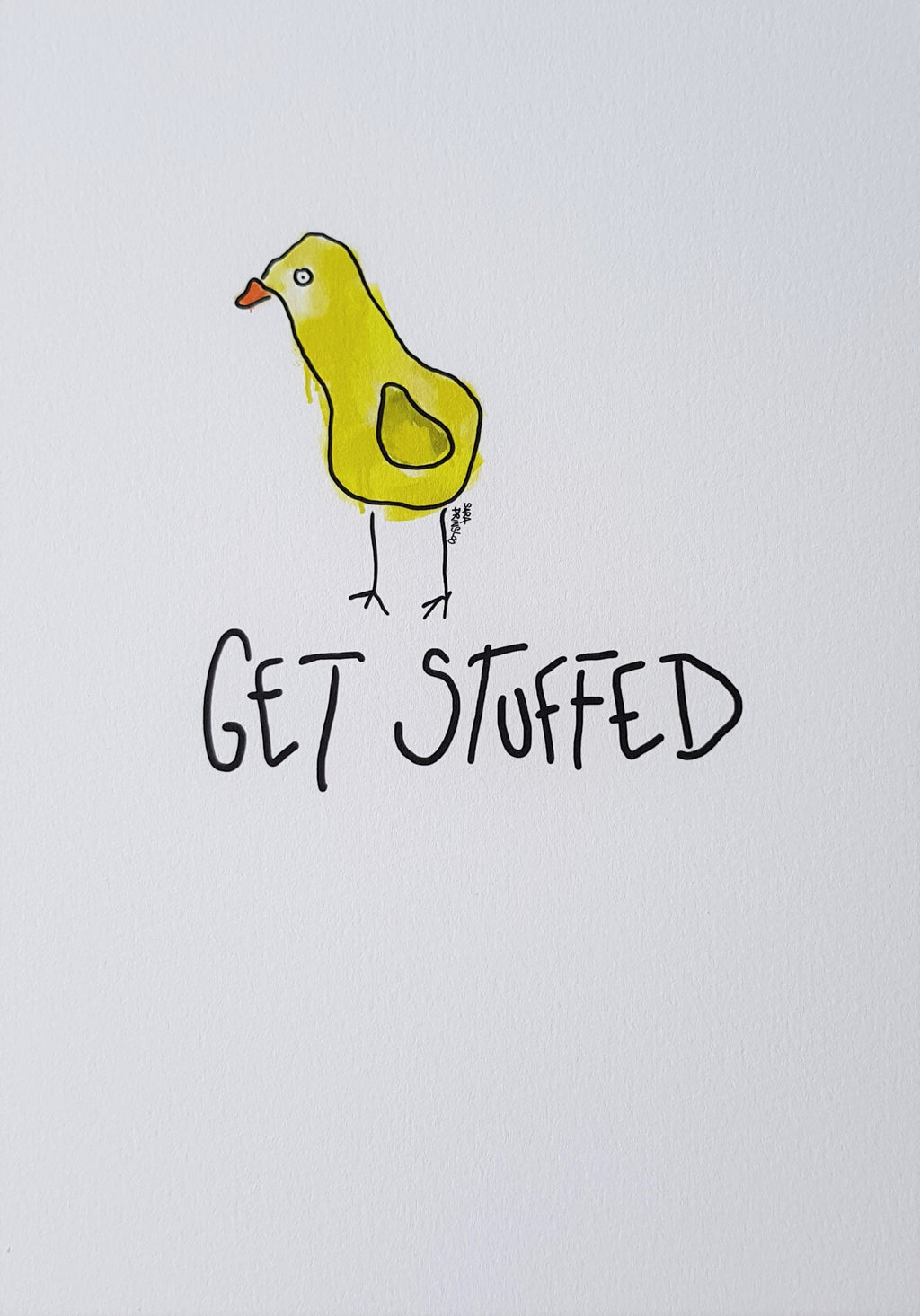 GET STUFFED CHICK PRINT