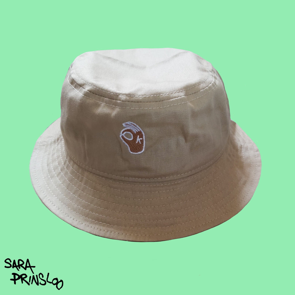 Sand OK bucket Hat