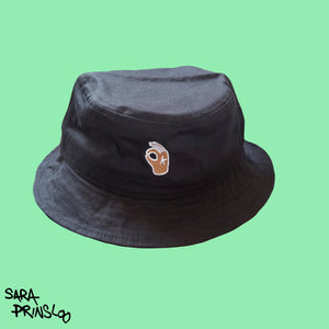 Black OK bucket Hat
