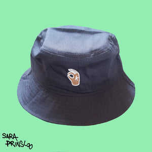 Navy Blue OK bucket Hat