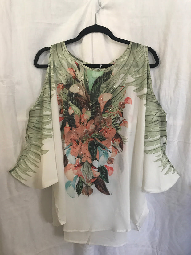 Cold shoulder top/ Short kaftan