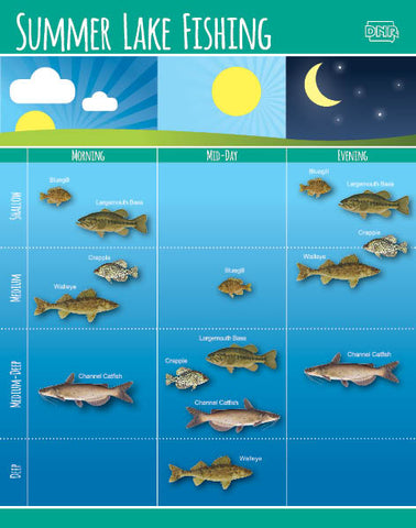 Water depth by fish species