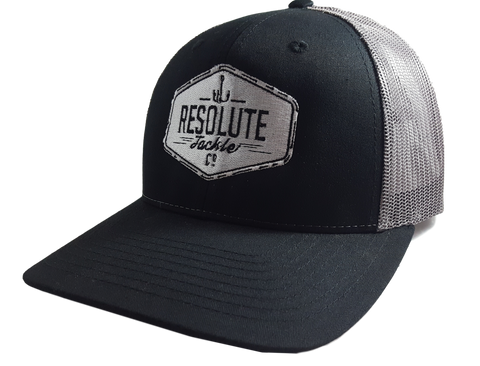 Trucker Mesh Hat - Black / Charcoal Logo