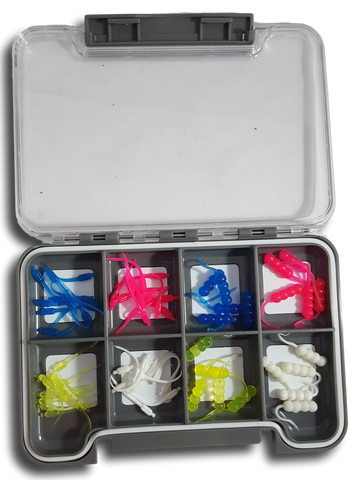 Plastic Starter Tackle Box Kit Ice Fishing Plastics Gift