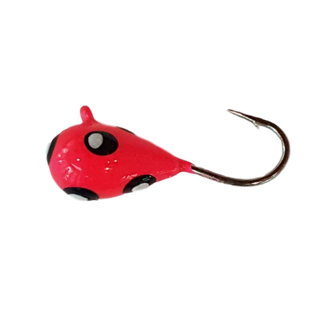 Hot Pink Silver Dot Tungsten UV Glow Jig