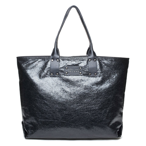 Sol & Selene IT Girl Tote Metallic Black Bag