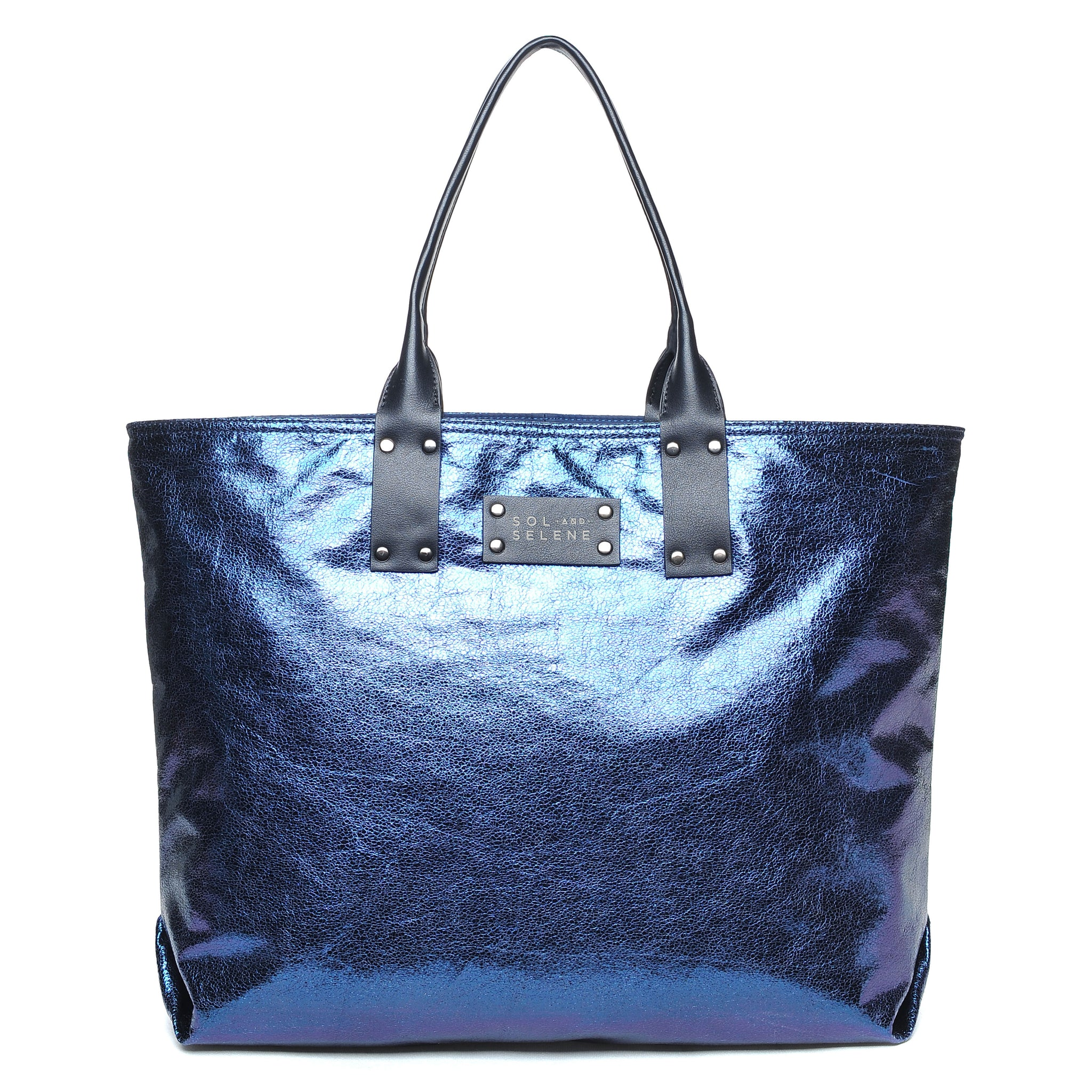 Sol & Selene IT Girl Tote Metallic Navy Blue Bag