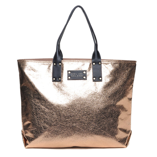 Sol & Selene IT Girl Tote Metallic Rose Gold Bag