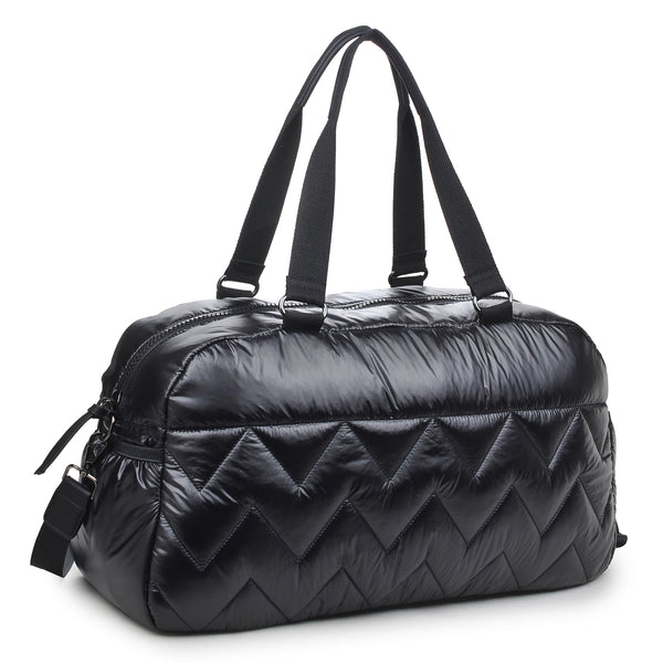 Sol & Selene Walk this Way Duffle Gym Tote Bag Black