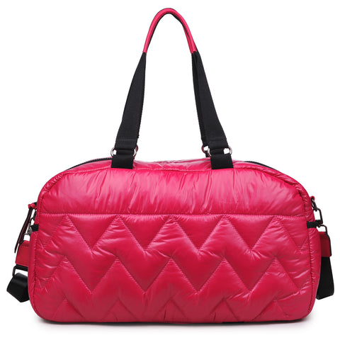 Sol & Selene Walk this Way Duffle Gym Tote Bag Fuchsia Berry Pink