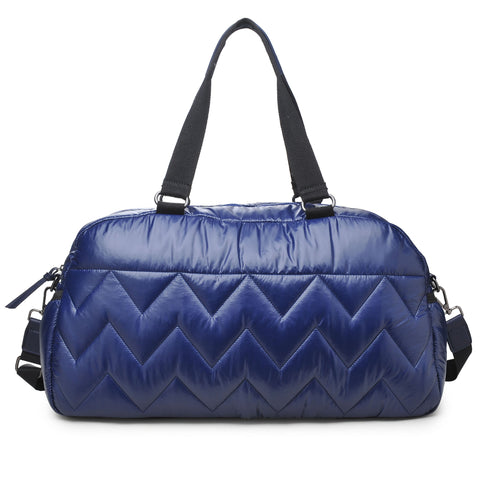 Sol & Selene Walk this Way Duffle Gym Tote Bag Navy Blue
