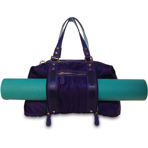 Hang Accessories Athleisure Yoga Tote Bag Navy