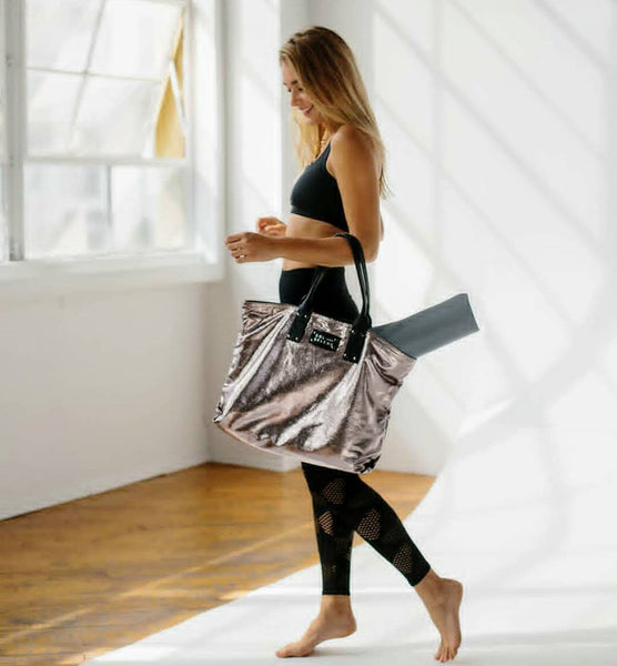 Sol & Solene IT Girl Activewear Tote Bag Silver