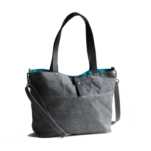 Moop Bags The Carrier Tote Bag Grey