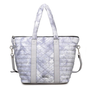 Sol & Selene Metropolitan Tote Bag Grey Cloud Print
