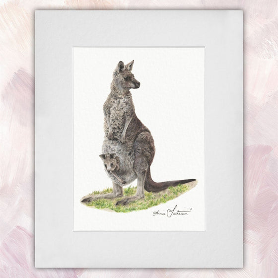 Eastern Grey Kangaroo & Joey