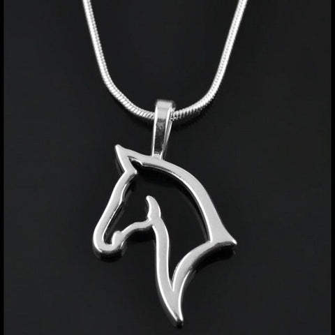 Horse Metal Necklace & Pendant