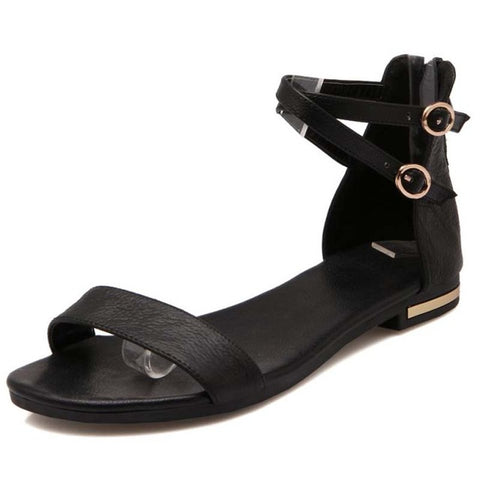 Flat Sandals With Ankle Straps FREE SHIPPING