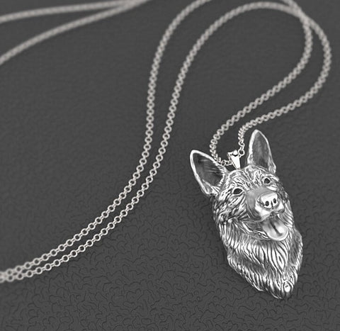 German Shepherd Pendant Necklaces